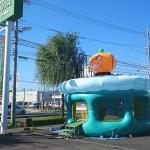 自動車ディーラーのハロウィンイベントにカボチャのふわふわを4日間レンタル!in静岡県浜松市
