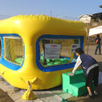 児童養護施設のお祭りにミニミニエアランドをレンタルしました!in大阪府高槻市